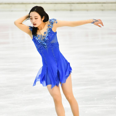 Marin Honda performing her free skating at the 2020 Bavarian Open.