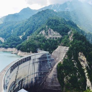 Kurobe Dam, Tateyama Kurobe Alpine Route.