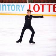 Lev Vinokur performing his short program at the ISU Junior Grand Prix Riga Cup 2019.