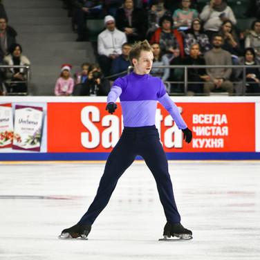 Sergei Voronov during his free skating at the Russian National Championships 2020.  Сергей Воронов в произвольной программе на Чемпионате России 2020.