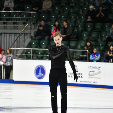 Sergei Voronov during the short program at the Russian National Championships 2020.  Сергей Воронов в короткой программе на Чемпионате России 2020.