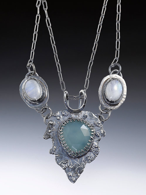 Moonstone and Chalcedony Necklace