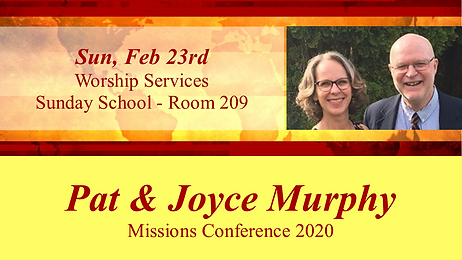 2020-02-23 Missions Conference - Murphy.