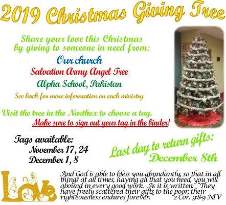2019-11-17 Christmas Giving Tree Bulleti