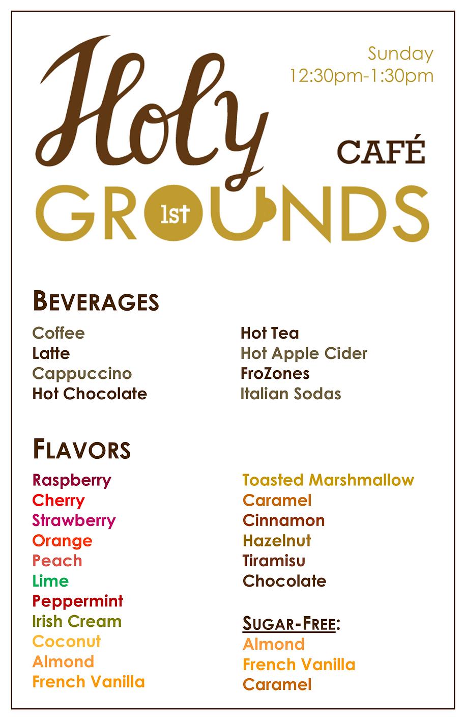 Holy Grounds Cafe Menu 2020.11.png