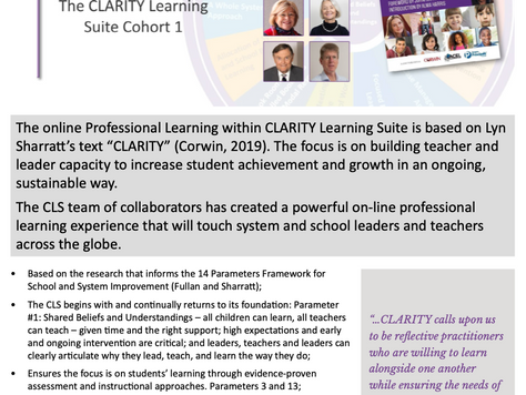 CLARITY Learning Suite Registration for Cohort 1