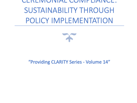 Ceremonial compliance: sustainability through policy implementation