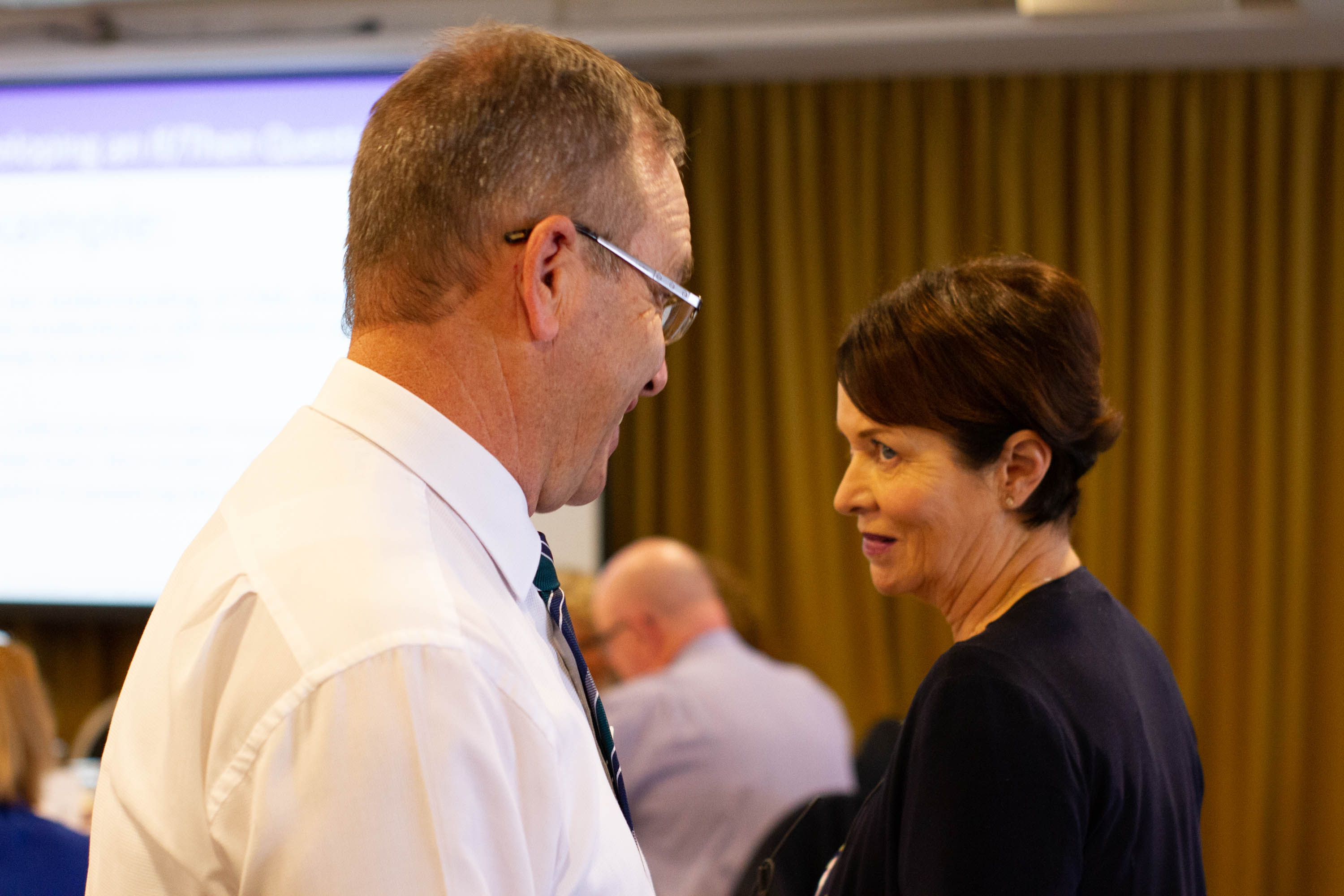 Lyn and Superintendent John - Collaborat