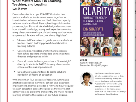 CLARITY: What Matters MOST in Learning, Teaching, and Leading