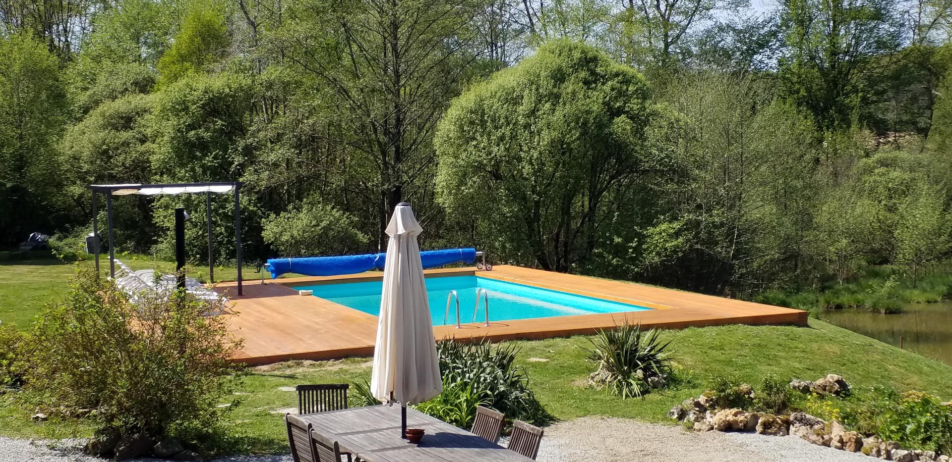 Lakeside swimming pool