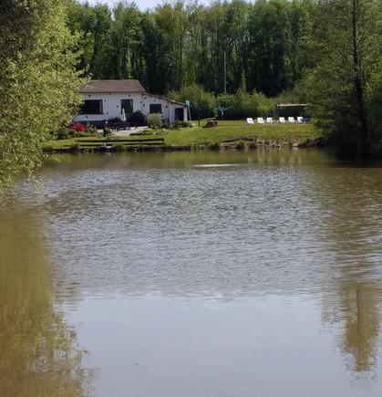 House and Pool at Les Gravelles Carp Fishing Holiday France