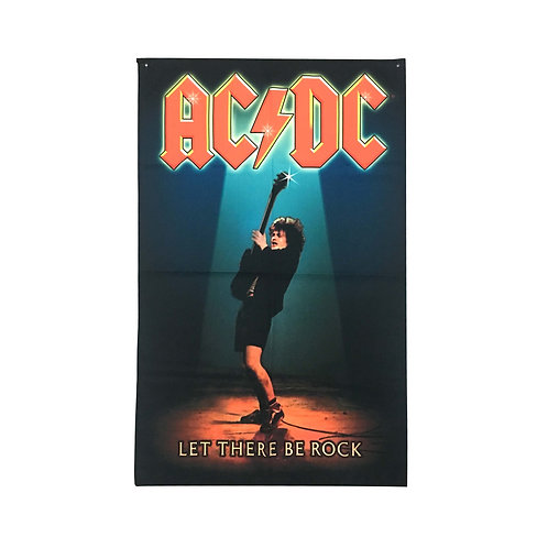AC/DC Textile Poster (with two wall sticky hooks)