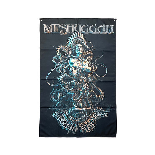 Meshuggah Textile Poster (with two wall sticky hooks)