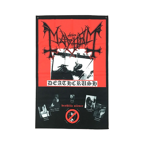 Mayhem Textile Poster (with two wall sticky hooks)