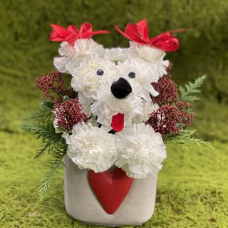 2021_puppy_flower_arrangement