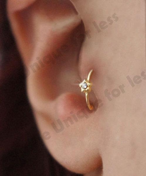 Flower Petal Diamante Cartilage Earring Cartilage Tragus Nose Hoop
