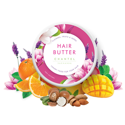 Flowers, Fruits & Herbs: Hair Butter + FREE Fine Mist Spray Bottle
