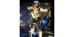 I put on my space suit (credit E Honey)