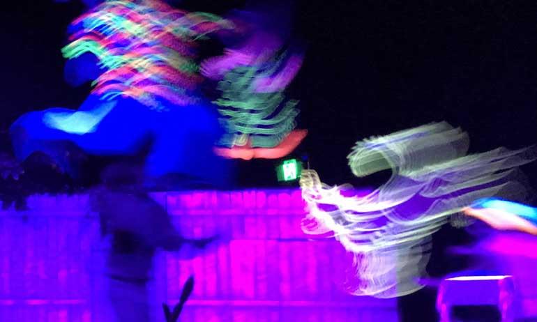 Glow-in-the-dark magic (credit E Honey)