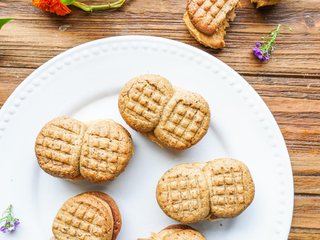 """Very Peanut-Buttery """"Nutter Butters"""" (gluten-free, refined-sugar free)"""