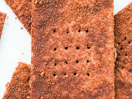 The TASTIEST Paleo Graham Crackers