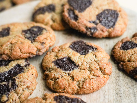 Easy Chocolate Chip Tahini Protein Cookies