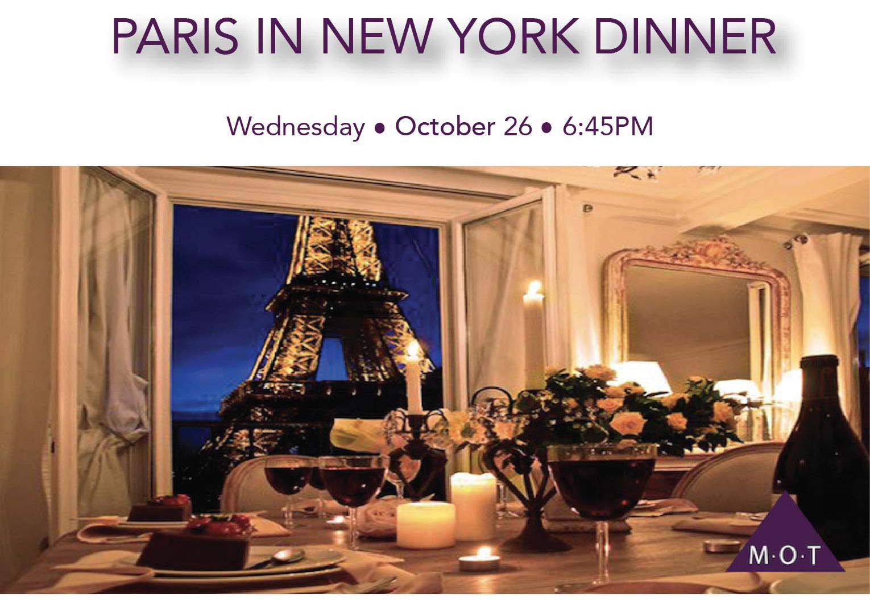 Paris in New York Dinner