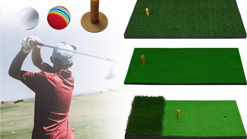 Golf Mat Golf Practice Hitting Mat Nylon Grass