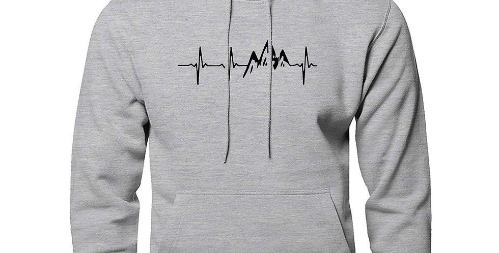 Mountain Heartbeat Hoodies Sweatshirt Men