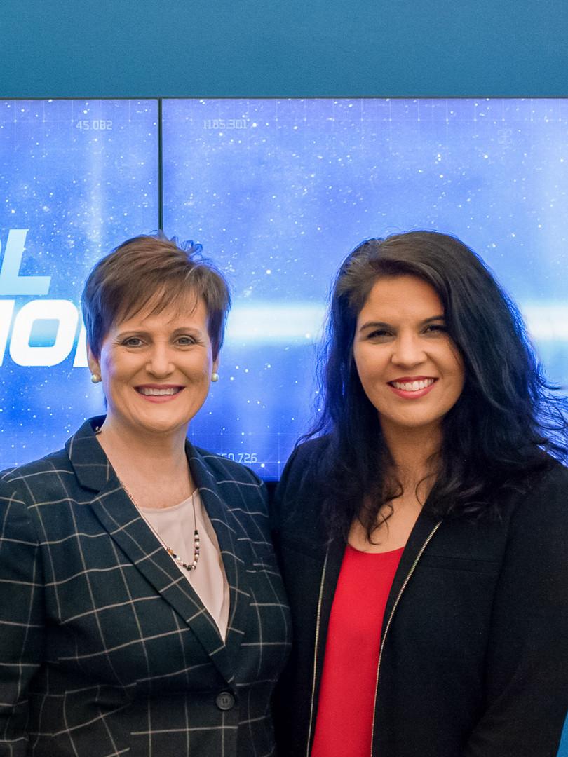 Lynn Jackson with Joanne Sanders