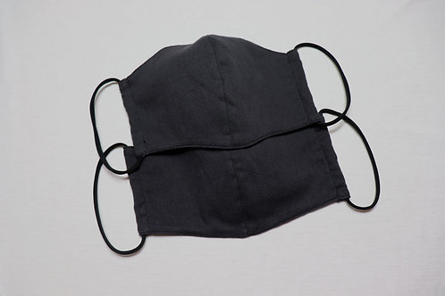 nū抗菌ガーゼ天竺3Dマスク tiotio premium加工〈ブラック〉