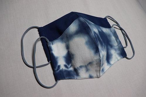 抗菌nūガーゼ3Dマスク(天然藍染め)