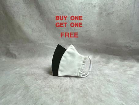 マスク1枚につき、1枚プレゼント