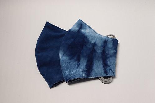nū抗菌コーデュロイ藍染め3Dマスク