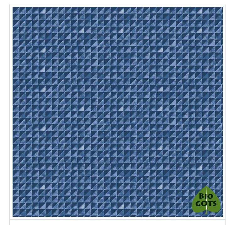 Biobaumwolle Blaue Ecken