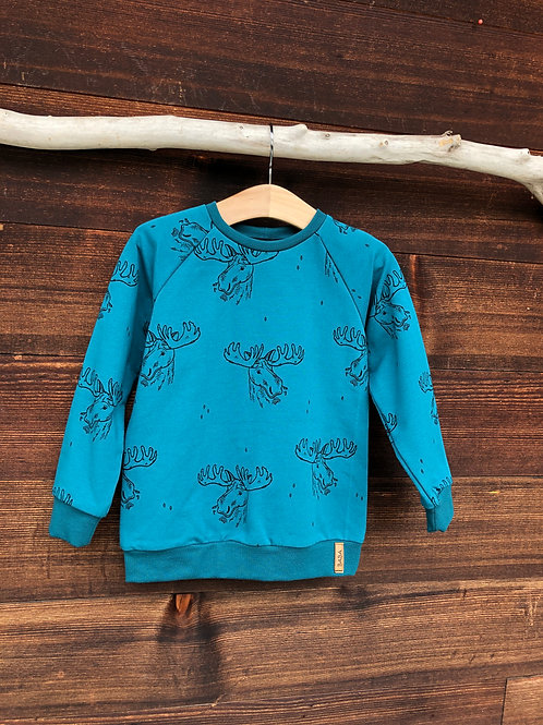 Druckknopf-Sweater Gr.80