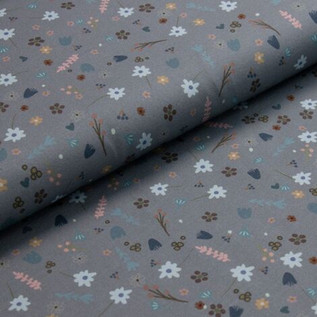 Bio Jersey Streublümchen auf graublau