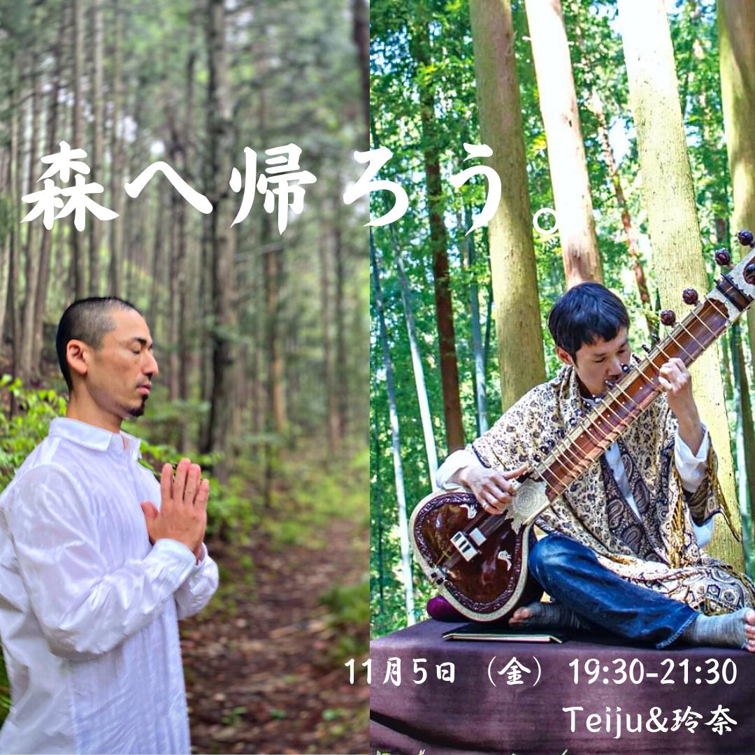 11/5(金)森へ帰ろうVOL.2〜シタールとヨガ〜
