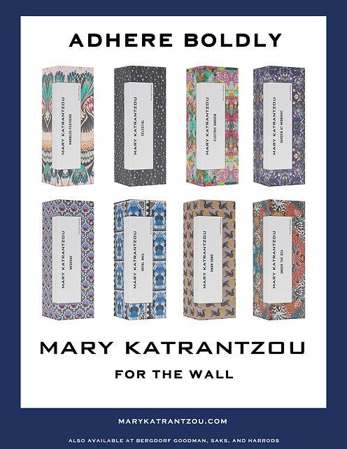 mary katrantzou wallpaper advertisement