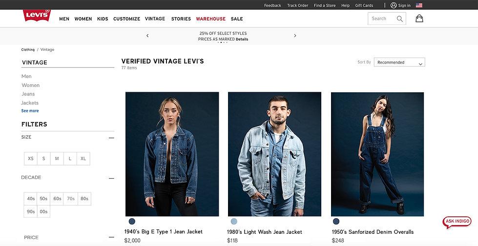 Vintage Levi's Website