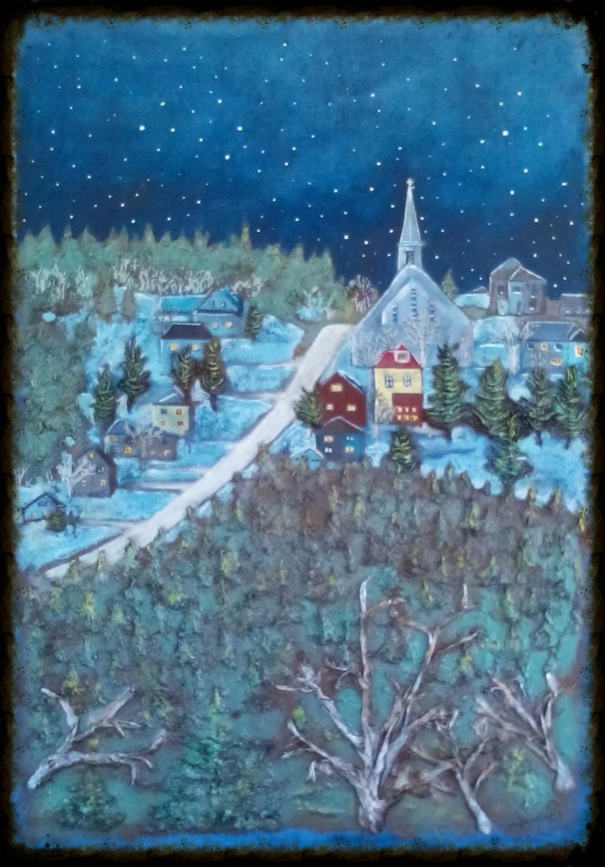 village au clair de lune