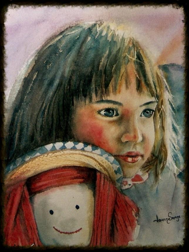 la petite et la poupée