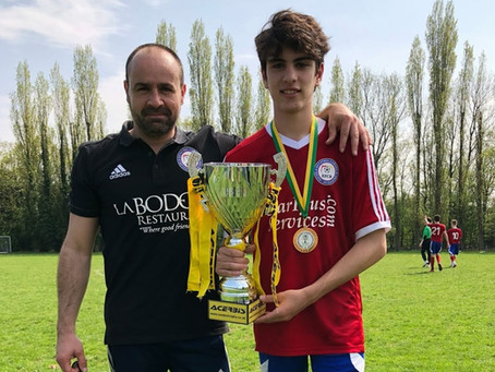 Cup winners Camden and Regents Park Youth League 2017-2018