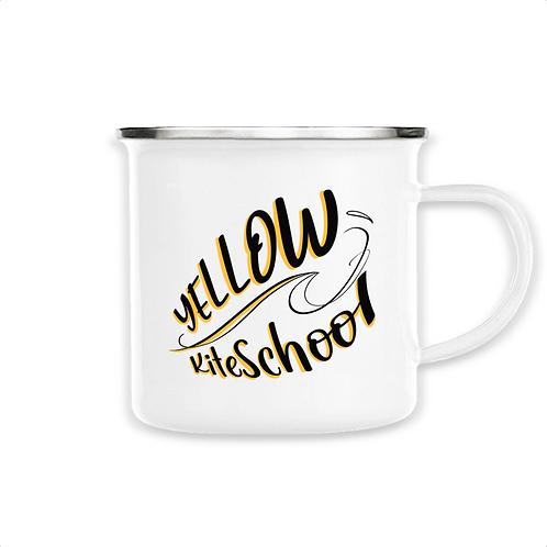 Mug émaillé yellow kite school