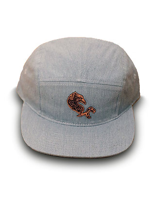 Gray Five Panel Hat