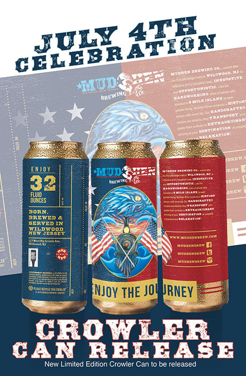 Mudhen Brewing July 4th Crowler Can Release