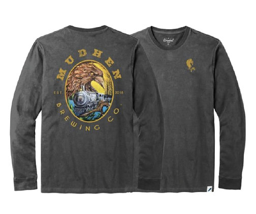 1883 long sleeve tee - charcoal
