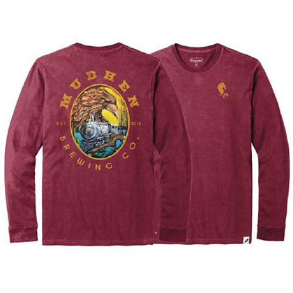 1883 long sleeve tee - maroon