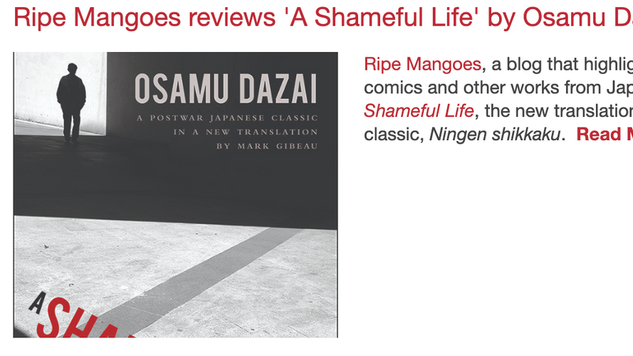 Ripe Mangoes reviews 'A Shameful Life' by Osamu Dazai