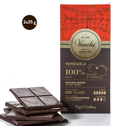Venezuela 100% Dark chokoladeplader